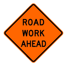 temporary work zone sign
